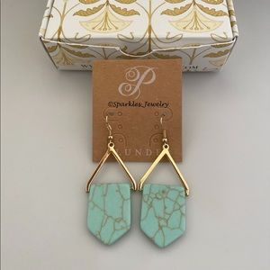 Plunder Lincoln Turquoise & Gold Earrings